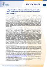 Le  travail sur plateformes numériques et la santé et la sécurité au travail : note d'orientation